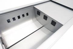 Prises de puissance de table de salle de conférence image stock