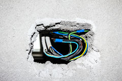 Prises murales électriques Photo libre de droits