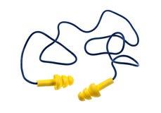 Prises réutilisables d'oreille avec la corde photos stock
