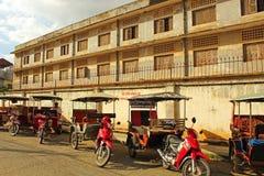 Prisión del colorete del Khmer, Phnom Penh Foto de archivo