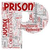 Prisión del vector, justicia, fuente P de la letra del crimen roja ilustración del vector