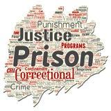 Prisión del vector, justicia, nube de papel rasgada vieja de la palabra del crimen libre illustration