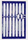 Prisión. Estilo del Doodle Imagen de archivo libre de regalías