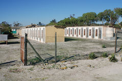Prisión exterior de la isla de Robben Fotos de archivo libres de regalías