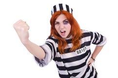 Prisioneiro em uniforme listrado Imagem de Stock Royalty Free
