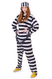 Prisioneiro em uniforme listrado Imagem de Stock