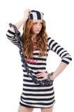 Prisioneiro em uniforme listrado Fotos de Stock