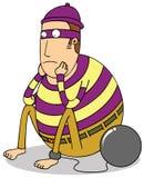 Prisioneiro gordo triste Imagens de Stock Royalty Free