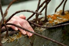 Prisioneiro. Mão Fotos de Stock Royalty Free