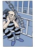 Prisioneiro na cela Imagem de Stock Royalty Free