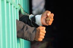 Prisioneiro na prisão foto de stock
