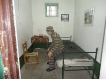 Prisioner de prison dans Terre de Feu Photo libre de droits
