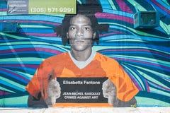 Prisioner-Wandgemälde Stockbild