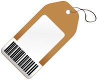 Prislapp med barcoden Arkivbilder