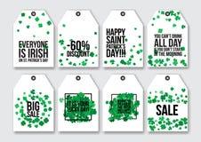 Prislappar för Stets Patrick dag Arkivbild