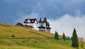 Prislop Monastery from Prislop Pass Romania Royalty Free Stock Photo