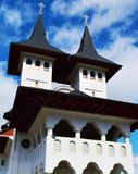 Prislop monastery, towers, Romania Stock Images