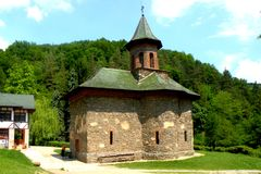 Prislop Orthodox Monastery in Hunedoara, Romania Stock Photos