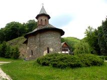Prislop ortodox kloster i Hunedoara, Rumänien Arkivbild