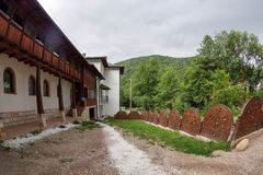 Inside the area dedicated to the Prislop Monastery, Romania Royalty Free Stock Image