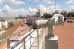Prismáticos inmóviles de la observación Fotografía de archivo
