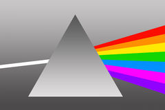 Prism. A prism diffracting white light into rainbow colors royalty free illustration