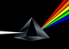 Prism. Vector of a prism refracting colors Stock Photography