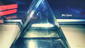 Prism. A closeup image of prism and apsara pencil behind it stock images