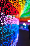 Prism Color Abstract. Abstract of light reflection of prism in rainbow of colors stock photos