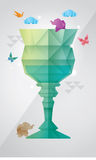 Prism glass design. This work got inspiration from prism, origami, and glass form Royalty Free Stock Image