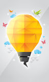 Prism lamp design. This work got inspiration from prism, origami, and lamp form Royalty Free Stock Image
