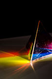 Prism and light experiment. Prism and light physics experiment Royalty Free Stock Images