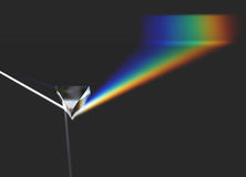 Prism optical light ray and rainbow Stock Images