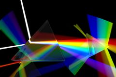 Prism rainbow abstraction Royalty Free Stock Photos