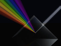 Prism spectrum. White light been split to form a colour spectrum by a glass prism Stock Photos