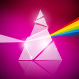 Prism Spectrum Illustration. On Pink Background Royalty Free Stock Photography