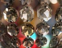 Prism of vintage chandelier Stock Image