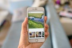 Prisma App op iPhone 6S stock foto