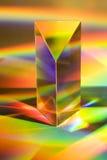 Prisma con i Rainbow Immagini Stock
