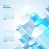 Prisma cristal astratto blu Immagine Stock Libera da Diritti