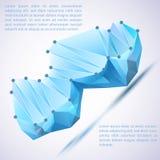 Prisma di Cristal Illustrazione di vettore per la vostra presentazione di affari Fotografie Stock Libere da Diritti