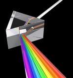 Prisma med den ljusa strålen Arkivfoto