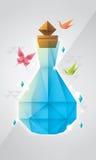 Prismaflaskdesign stock illustrationer