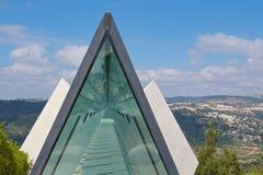 Prismatakfönster i det Yad Vashem museet i Jerusalem, Israel Fotografering för Bildbyråer