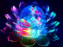 Prismatic λουλούδι κρυστάλλου Στοκ Φωτογραφία