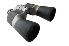 Prismatic binoculars. Isolated on white Stock Images