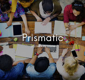 Prismatic Colored Multicolored Colorful Design Concept Royalty Free Stock Photo