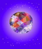 Prismatic faceted sphere Royalty Free Stock Photography