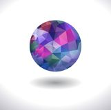 Prismatic faceted sphere Stock Photography