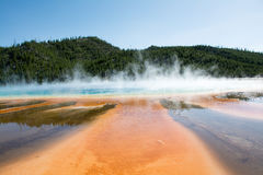 Prismatic Pool. The Prismatic Springs at Yellowstone National Park. The pool was very beautiful and I took pictures from many angles Royalty Free Stock Image